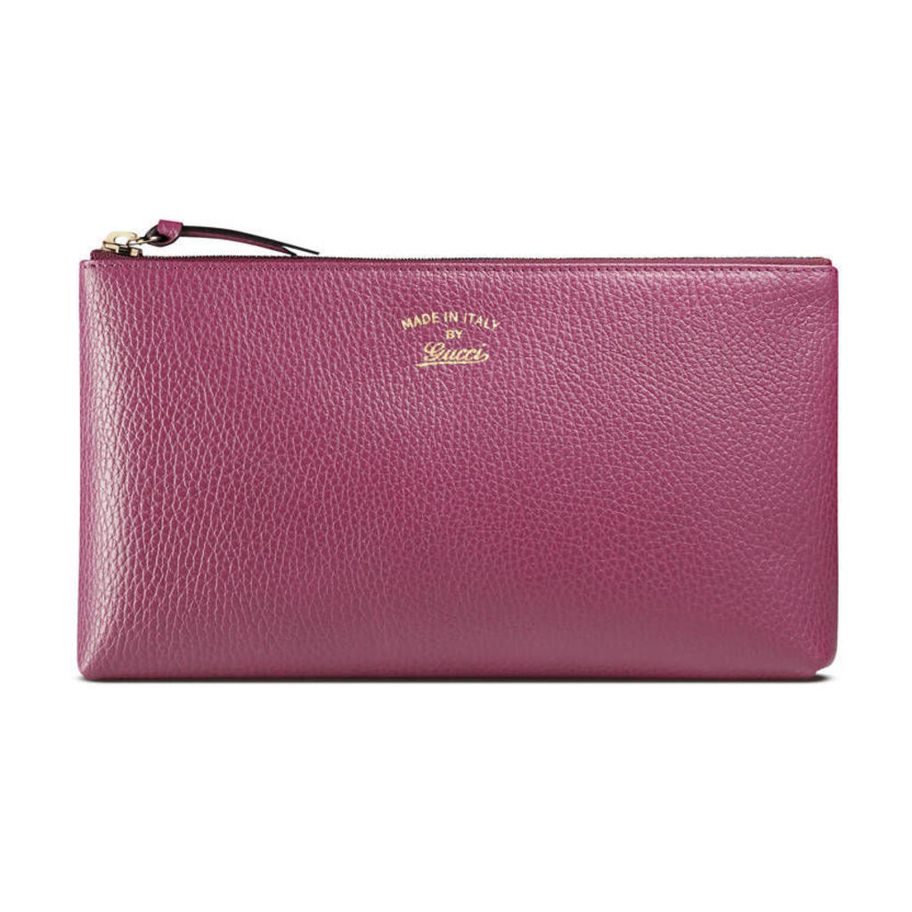 Gucci Swing leather pouch