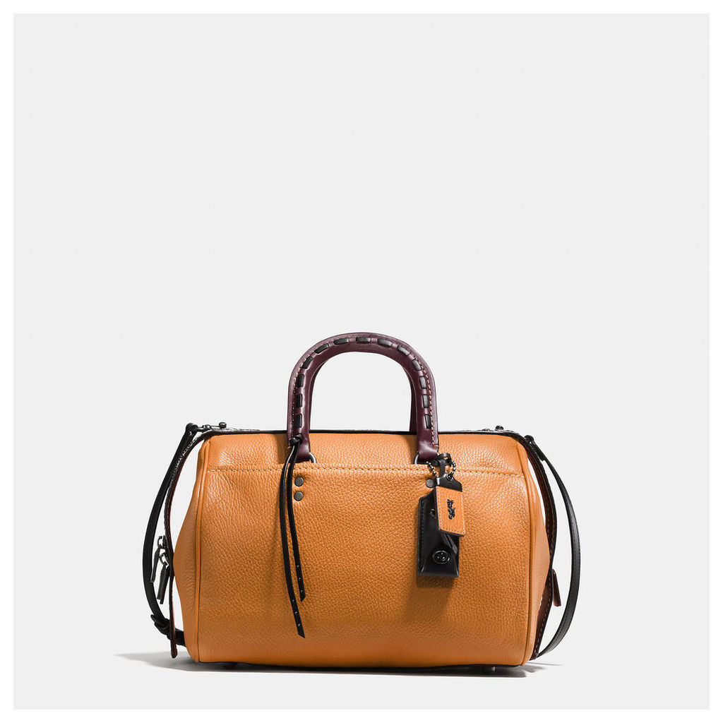 Coach Rogue Satchel With Colorblock Snake Detail