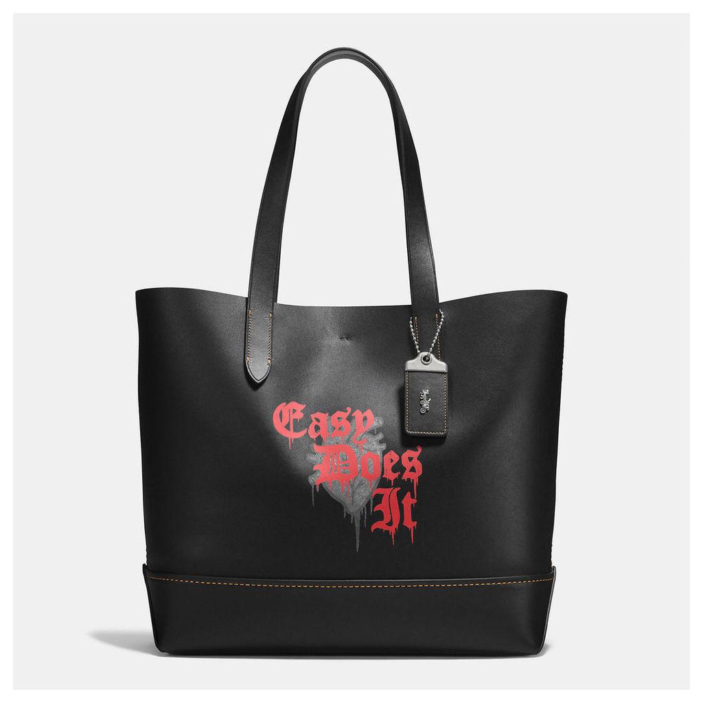 Coach Gotham Tote In Wild Love Print Leather