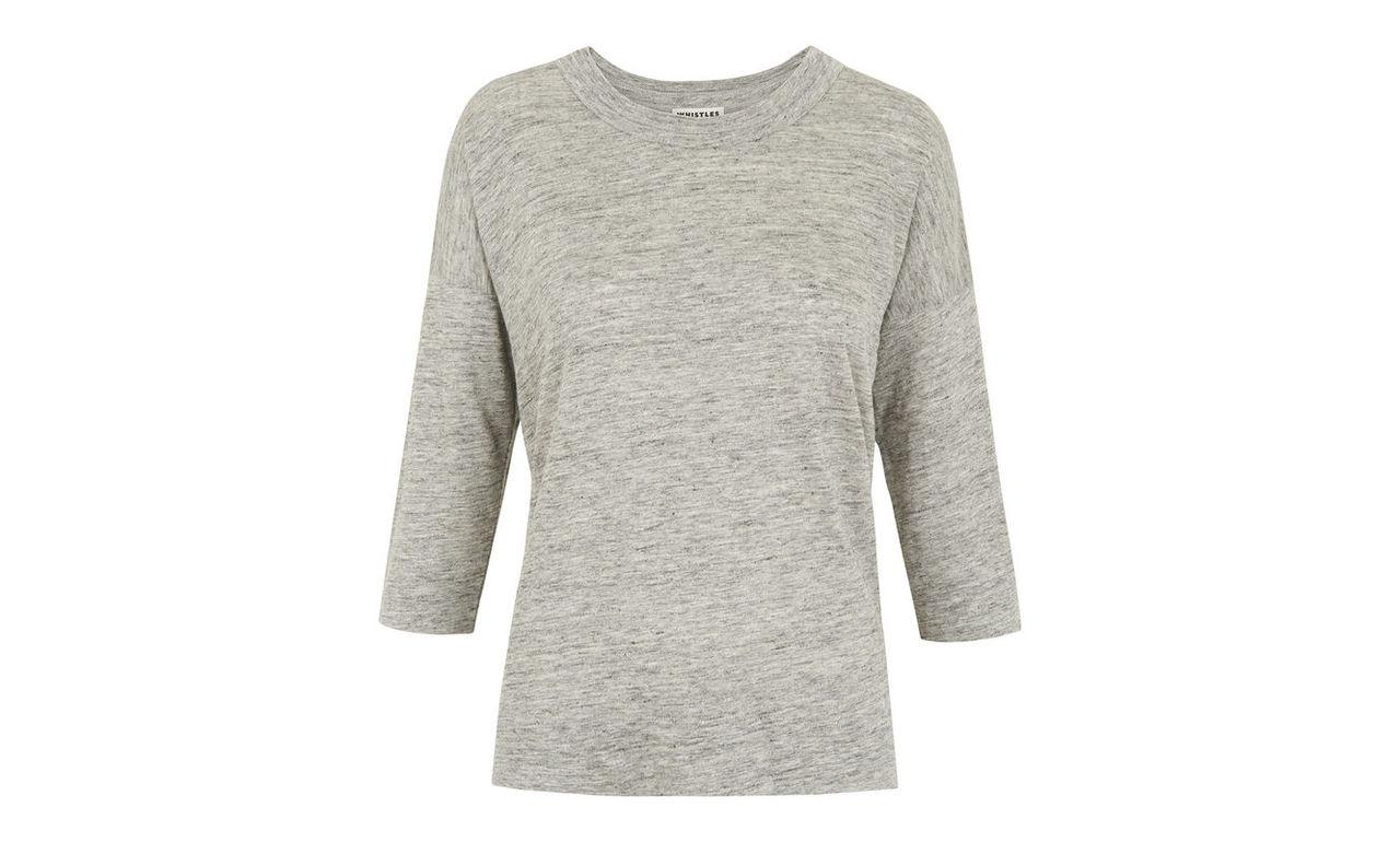 Laura 3/4 Sleeve Linen T-shirt