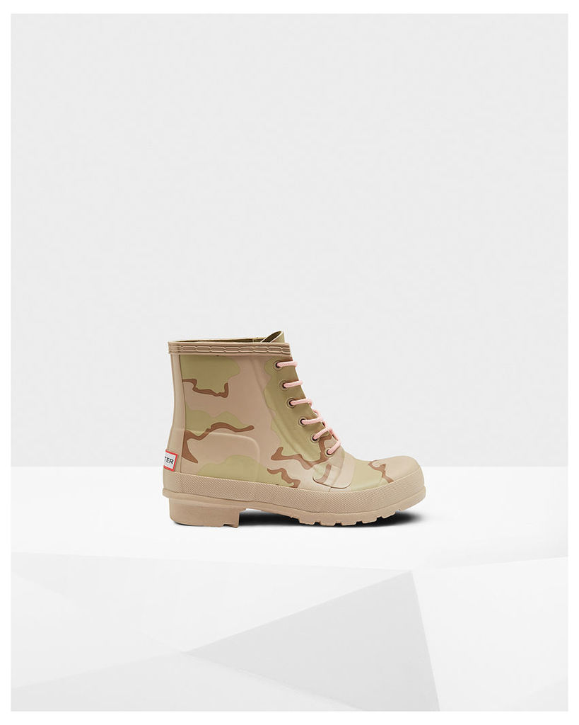 Women's Original Rubber Lace-up Desert Camo Boots