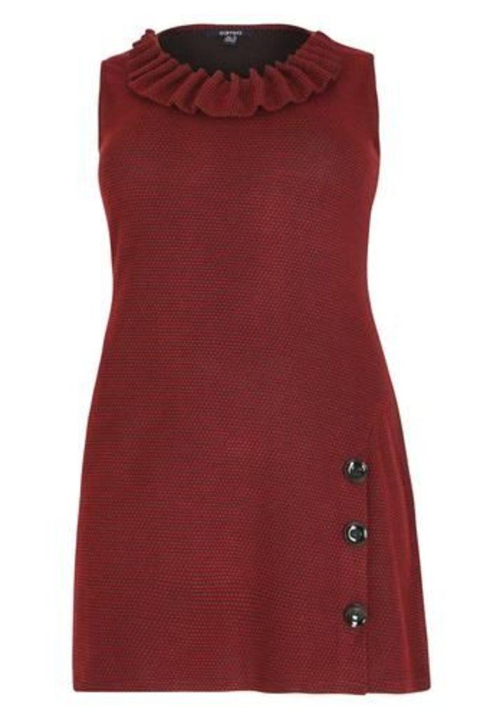 Plus Size Decorative Collar Detail Dress