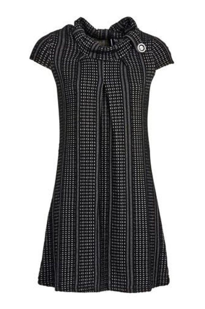 Button Collar Tunic Dress