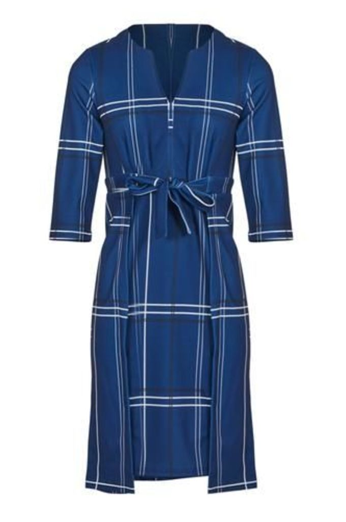 Checked Bow Front Dress