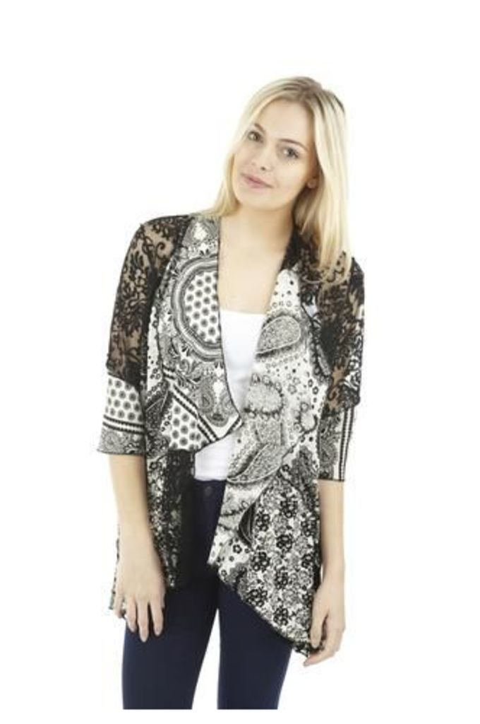 Paisley Effect Loose Over Cardigan