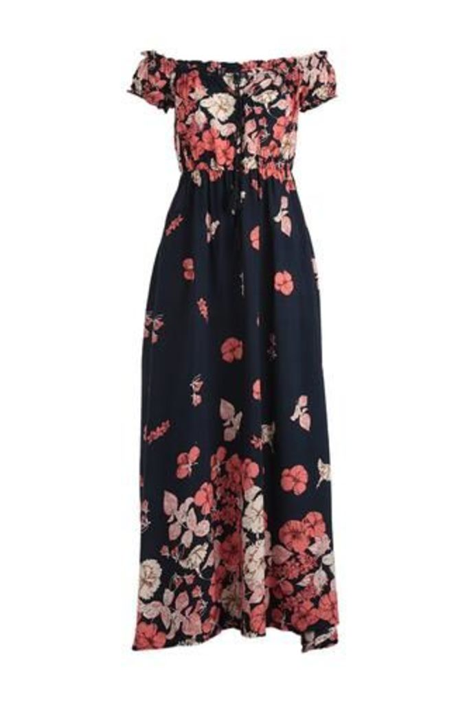 Gypsy Style Floral Maxi Dress