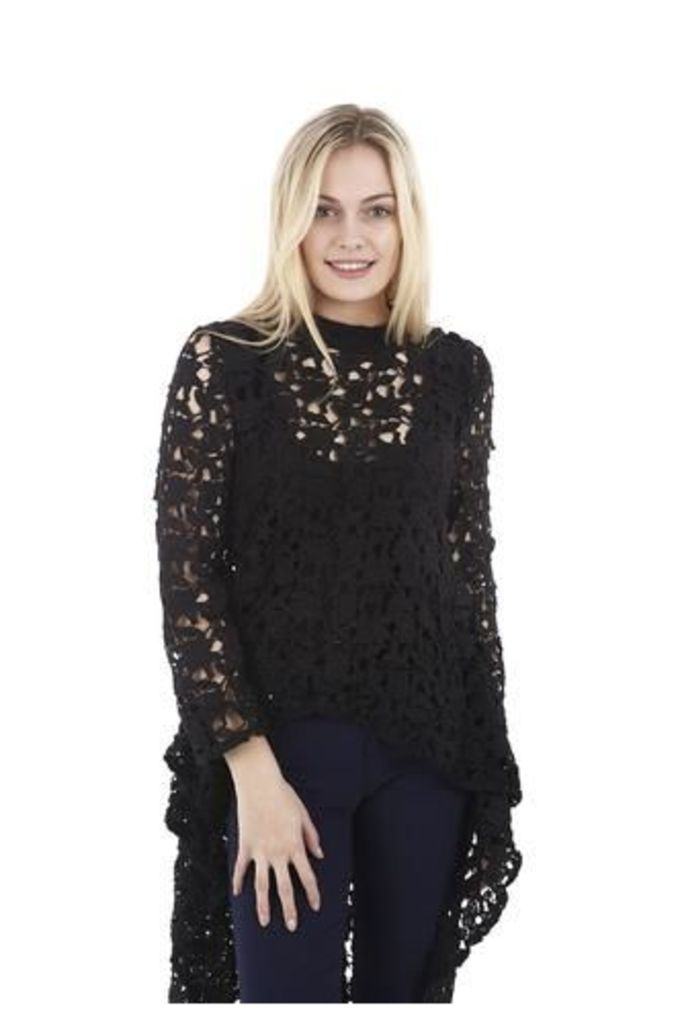 Laced Effect Dip Back Top