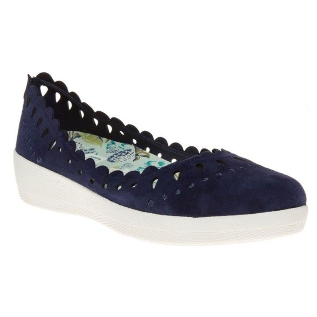FitFlop Anna Sui Latticed Ballerina Shoes, Supernavy