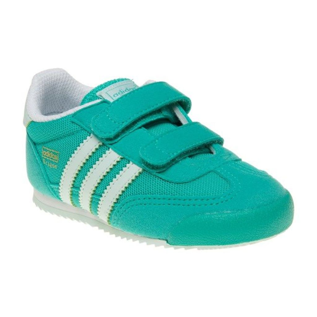 adidas Infants Dragon Trainers, Shock Mint/Ice Mint/White