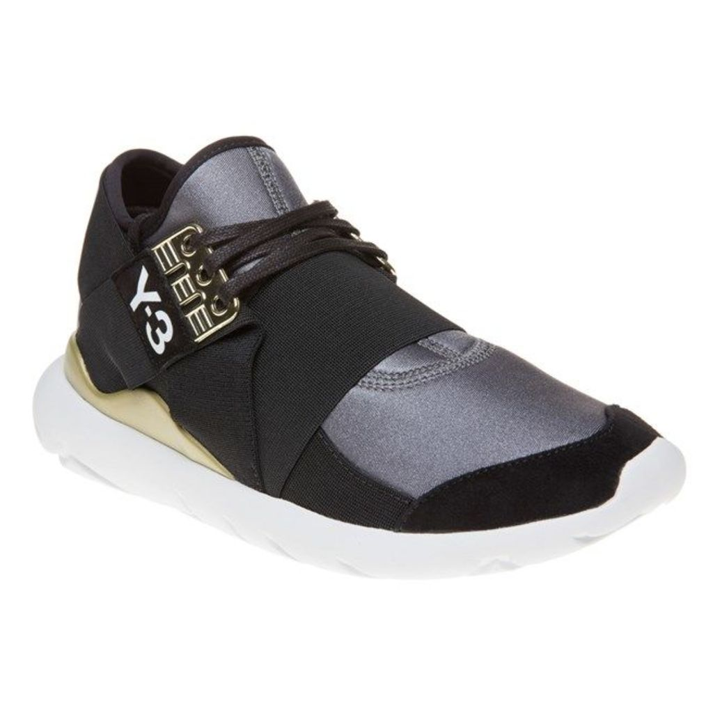 Y3 Qasa Elle Lace Trainers, Metallic/Core Black