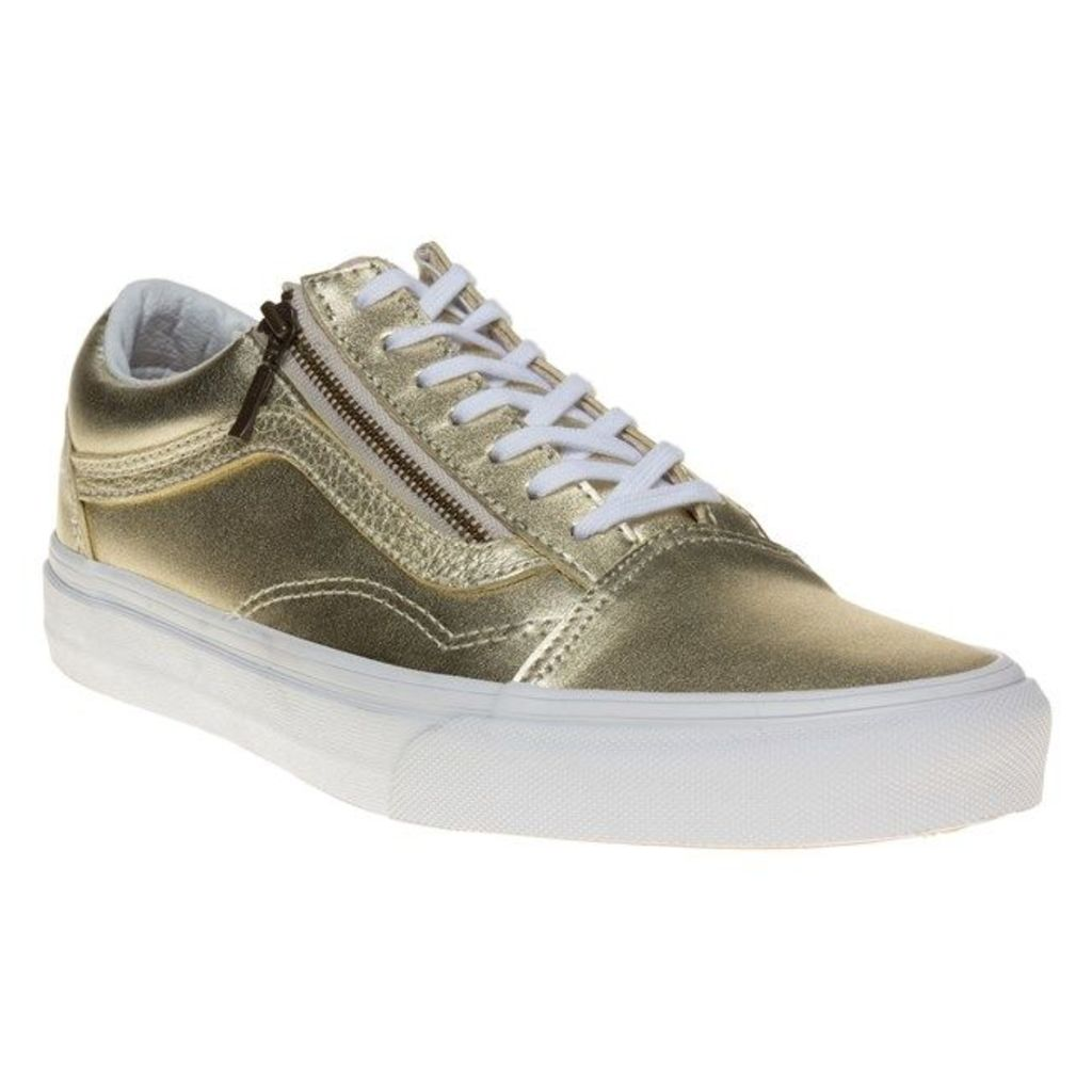 Vans Old Skool Zip Trainers, Gold/True White