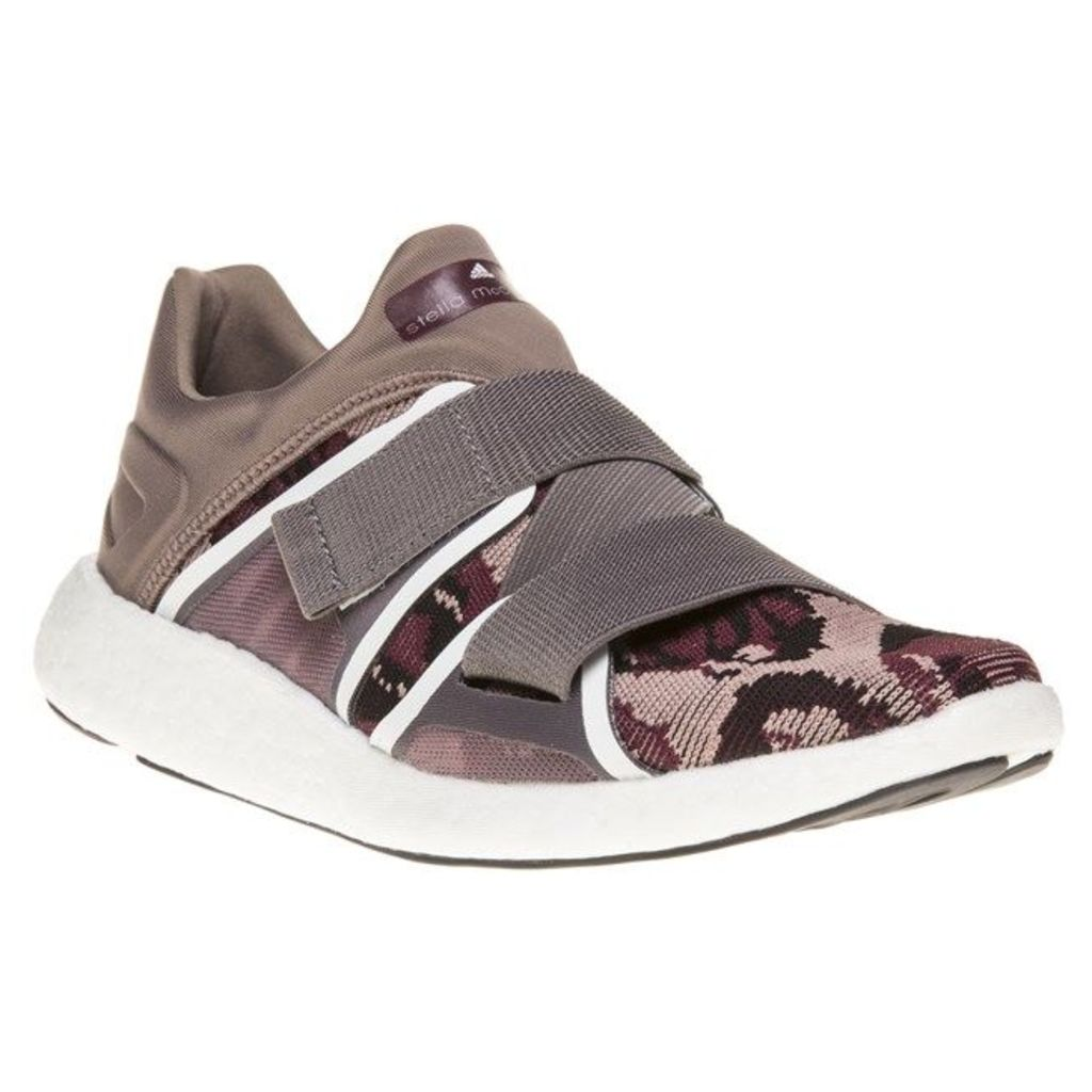 Stella McCartney Pureboost Trainers, Natural Grey/Maroon/Smoked Pink