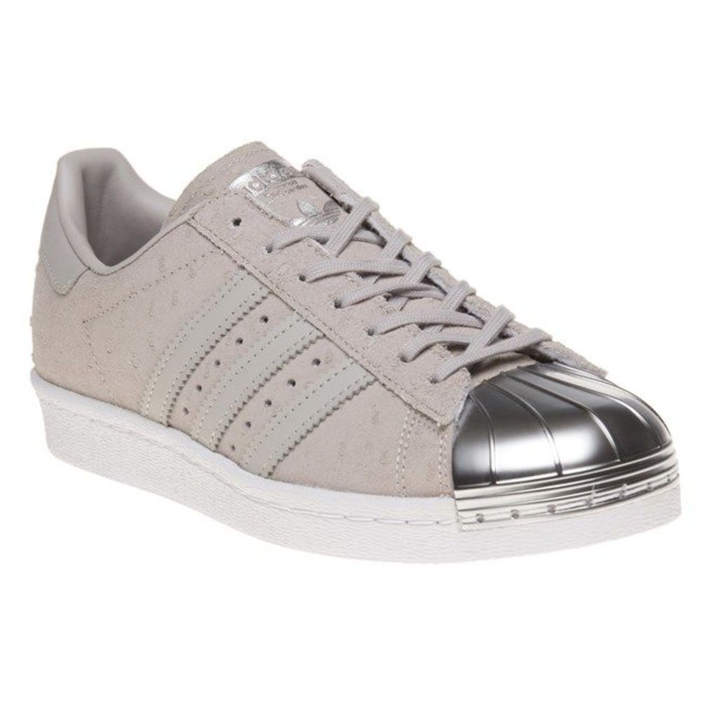 adidas Superstar 80's Metal Toe Trainers, Clear Grey/Metallic