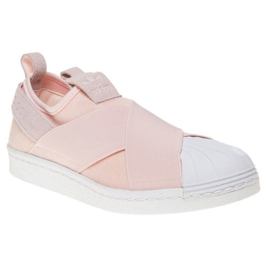 adidas Superstar Slip On Trainers, Halo Pink/White