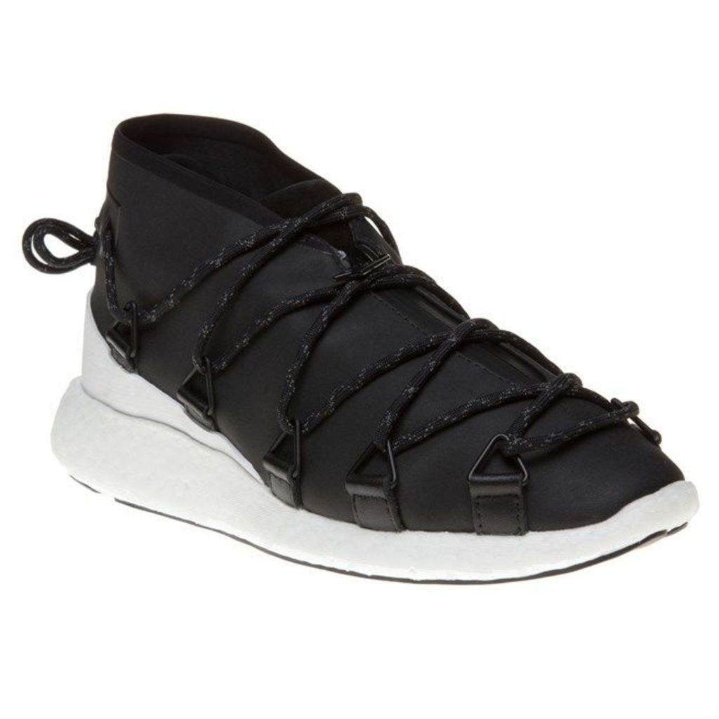 Y3 Cross Lace Run Trainers, Black
