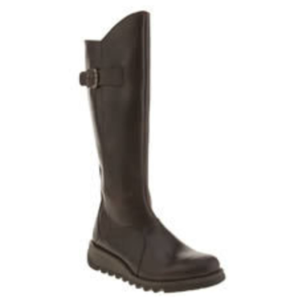 Fly London Dark Brown Mol 2 Boots
