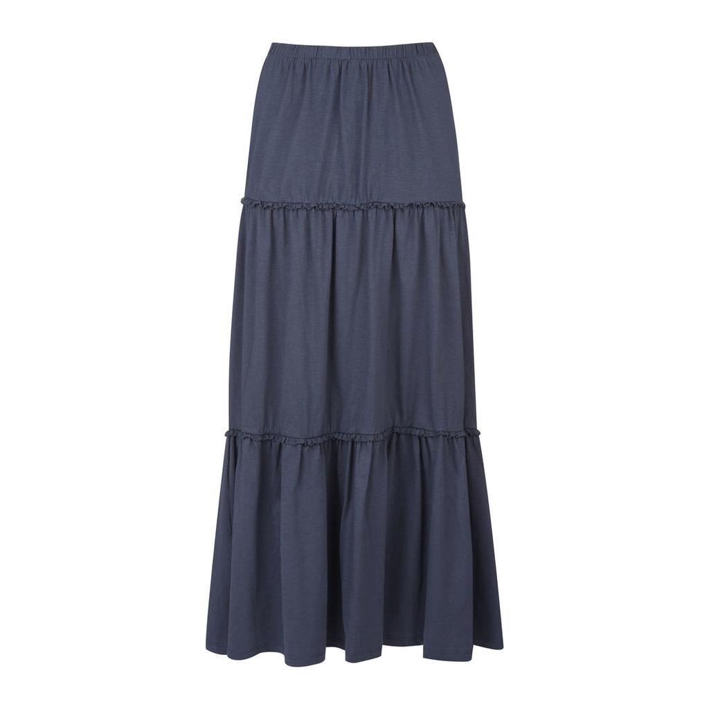 Jersey Tiered Long Skirt