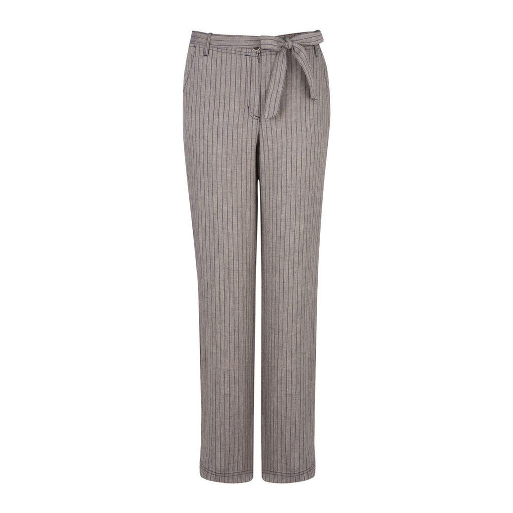 Pinstripe Linen Trousers