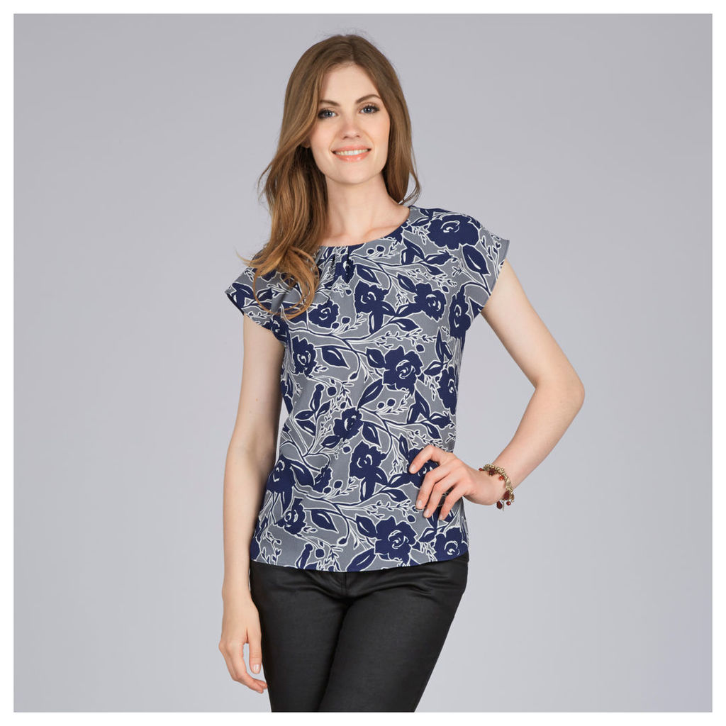 Silhouette Floral Print Top
