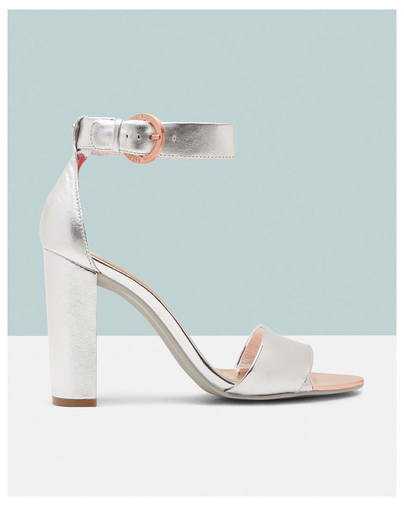 Ted Baker Ankle strap sandals Silver Colour