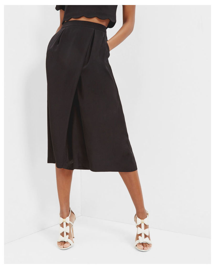 Ted Baker Wrap front culottes Black