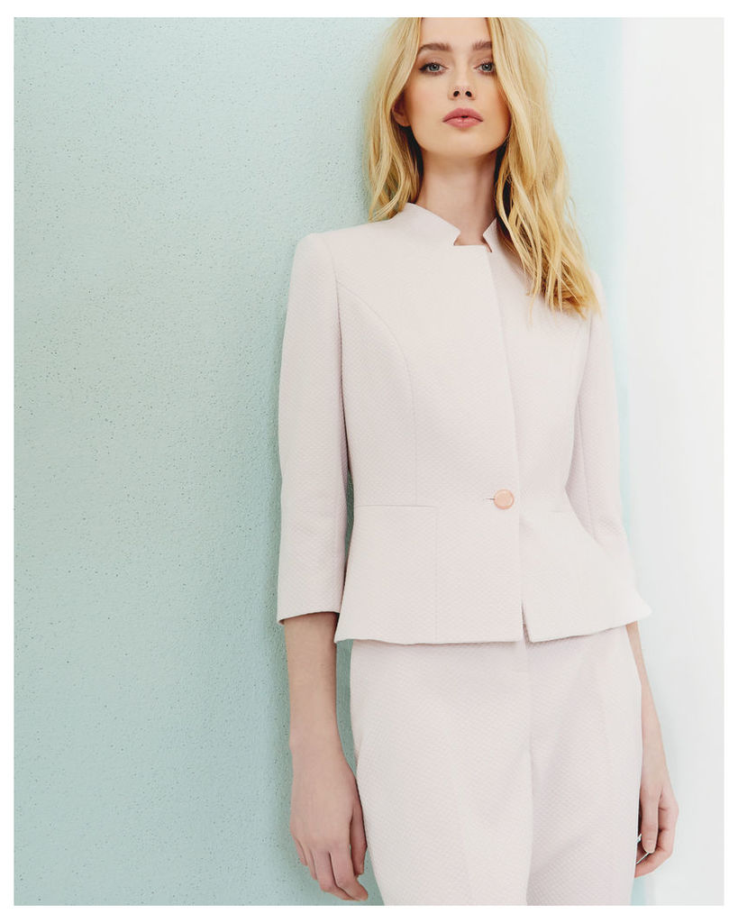 Ted Baker Textured peplum jacket Lilac
