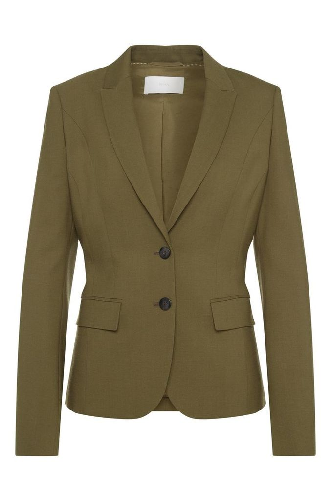 Fitted blazer in stretch new wool: `Jimelana`