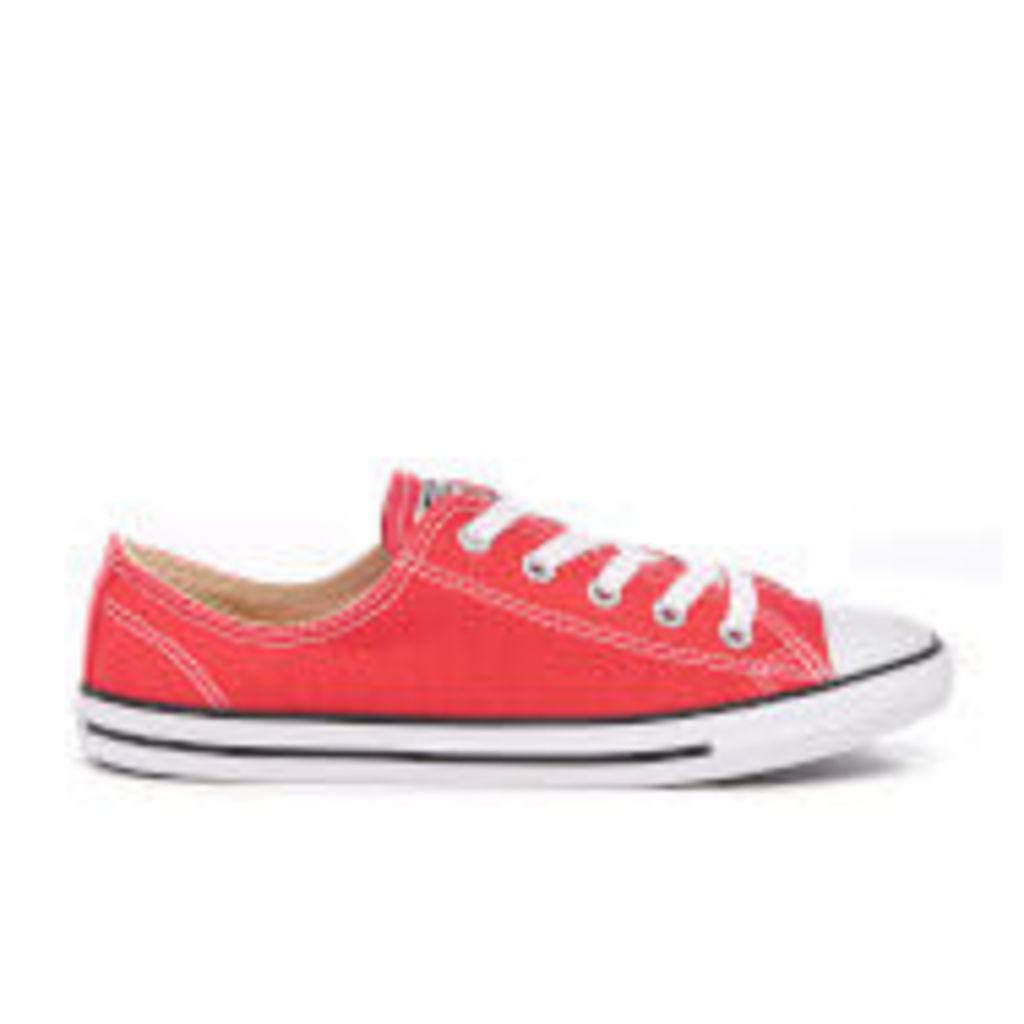 Converse Women's Chuck Taylor All Star Dainty Trainers - Ultra Red/Black/White - UK 3