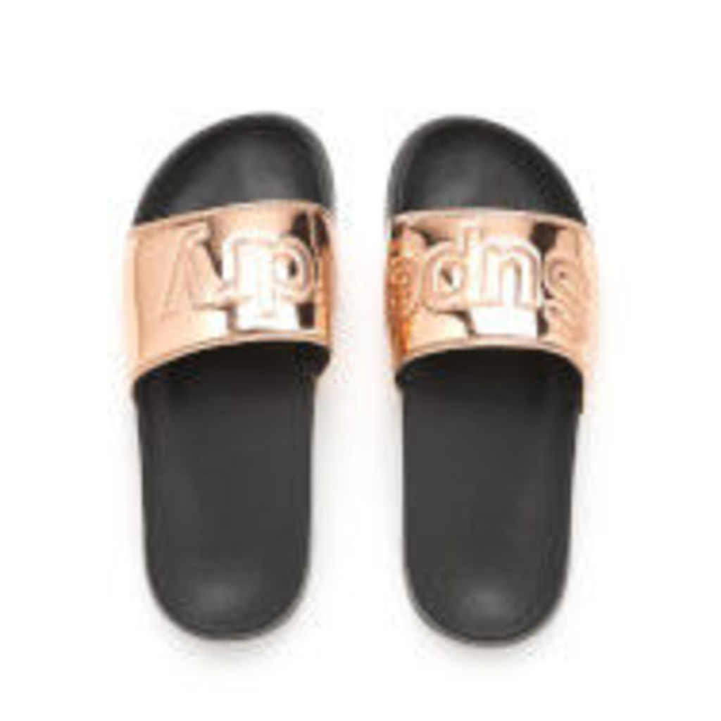 Superdry Women's Pool Slide Sandals - Rose Gold - L/UK 7-8
