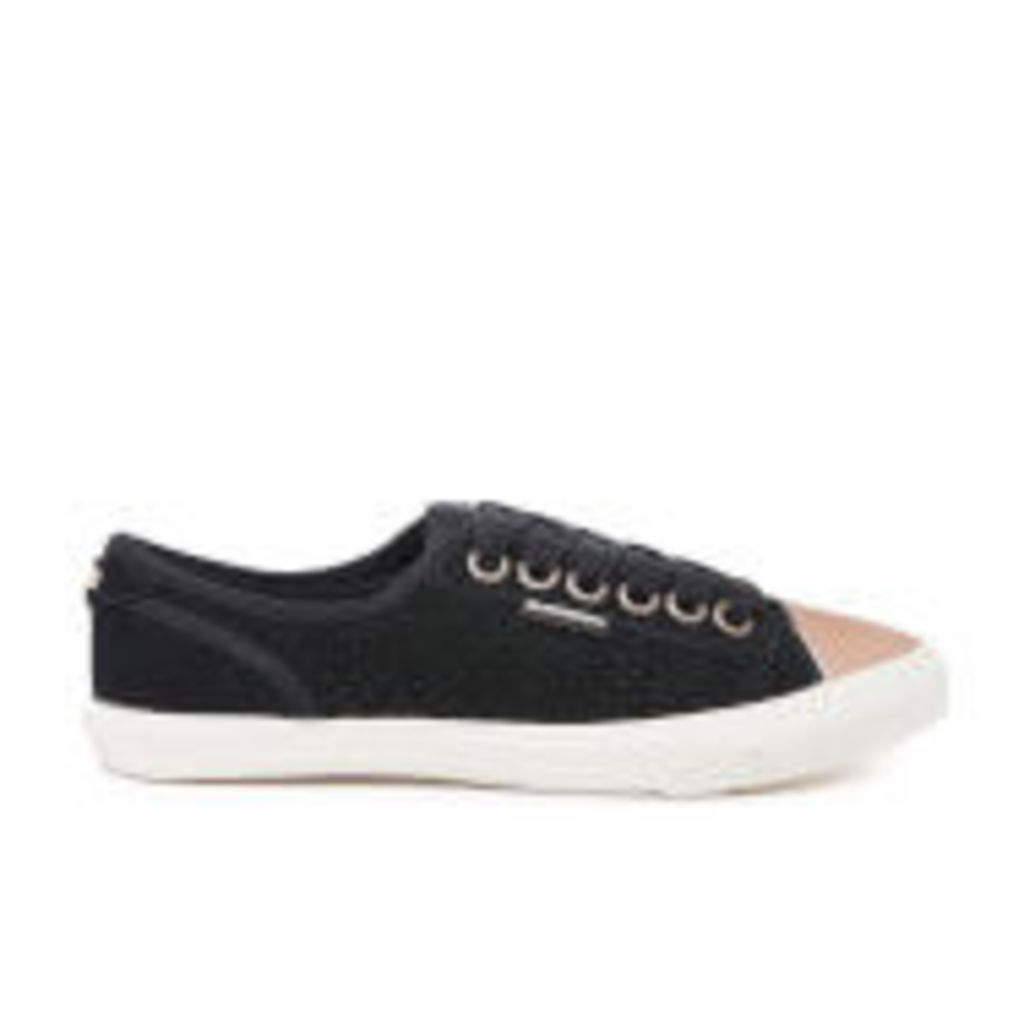 Superdry Women's Low Pro Luxe Trainers - Black - UK 3