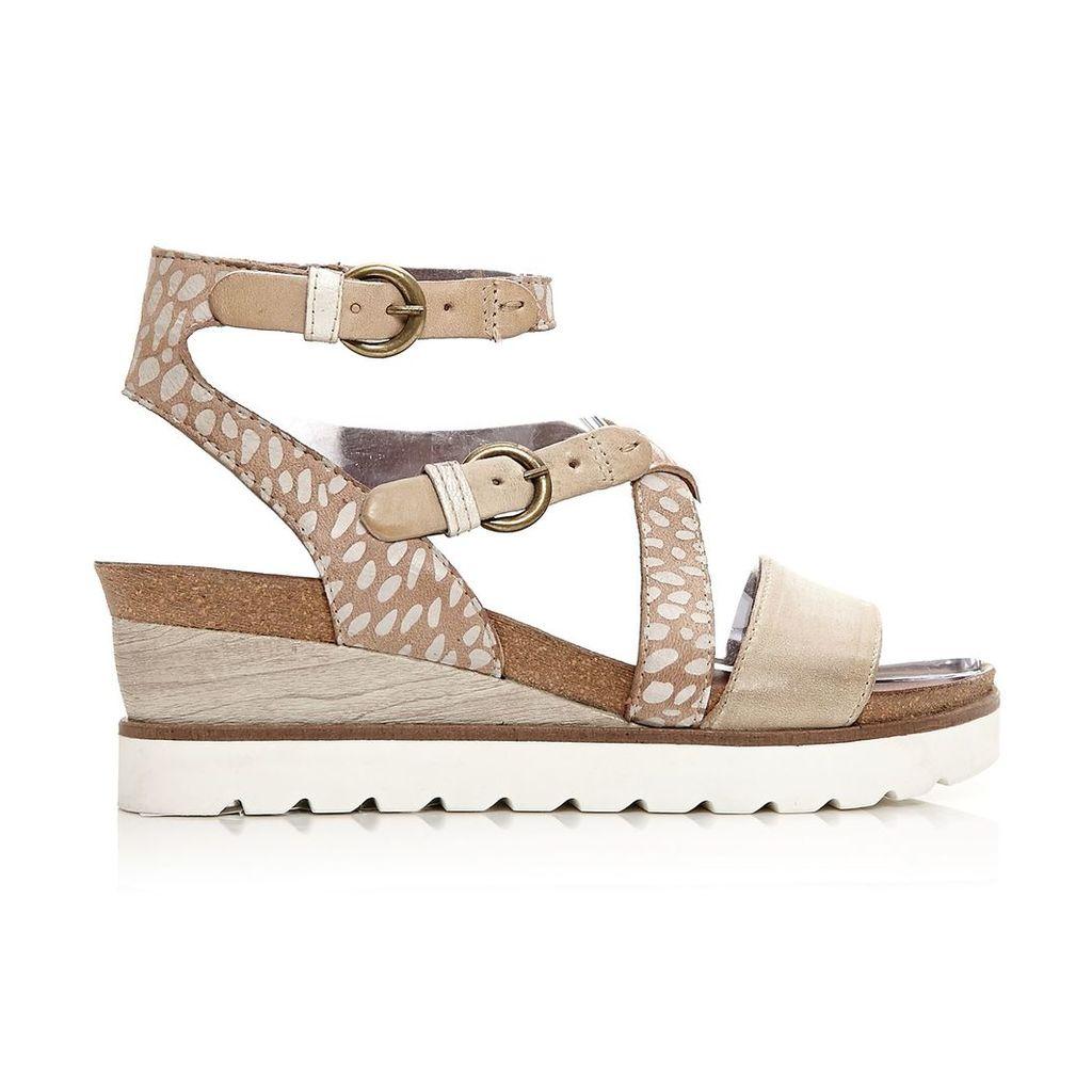 Moda in Pelle Priti Beige Medium Casual Sandals