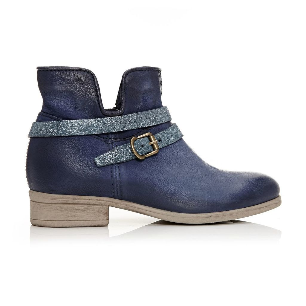 Moda in Pelle Ceryl Navy Low Casual Short Boots