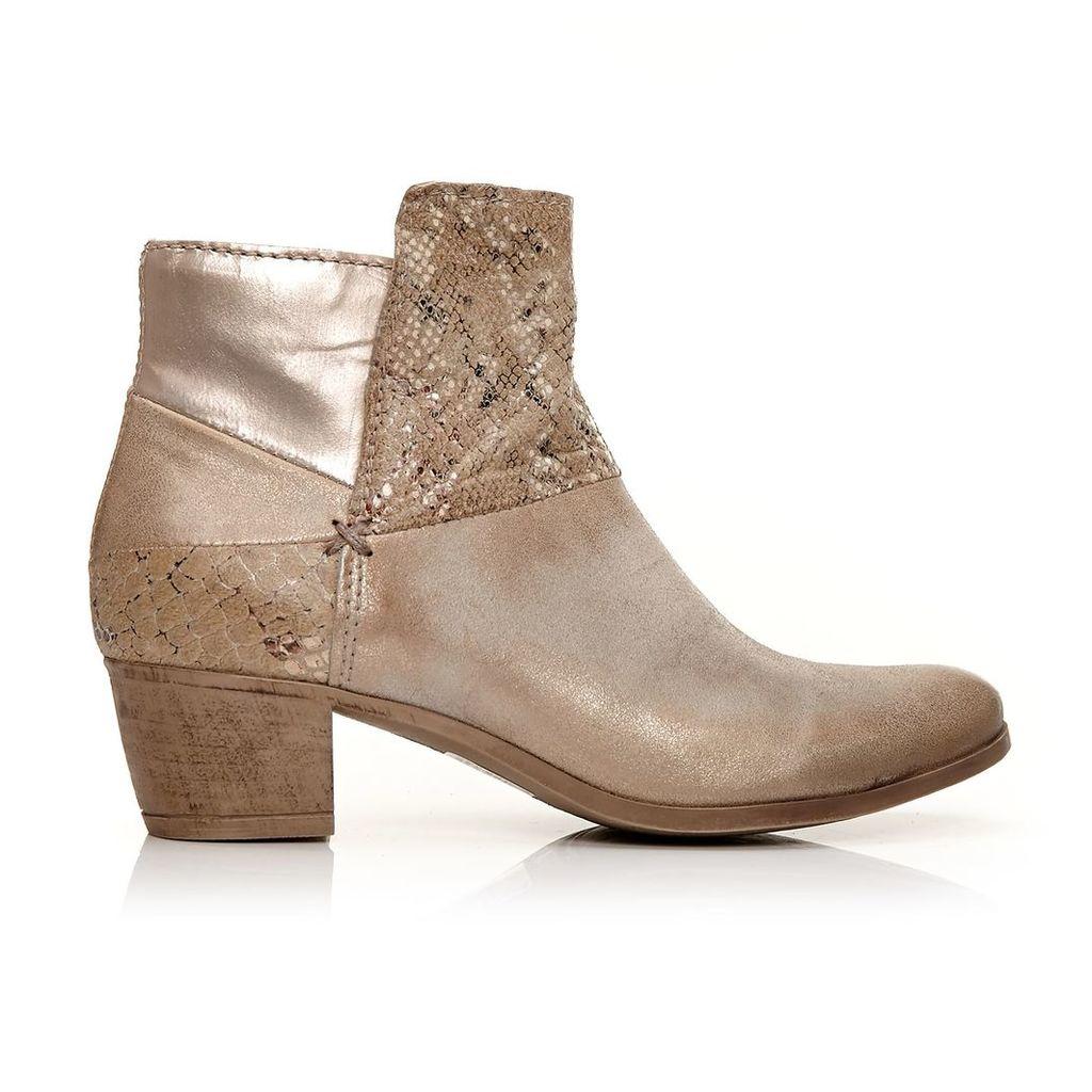 Moda in Pelle Corili Gold Medium Casual Short Boots