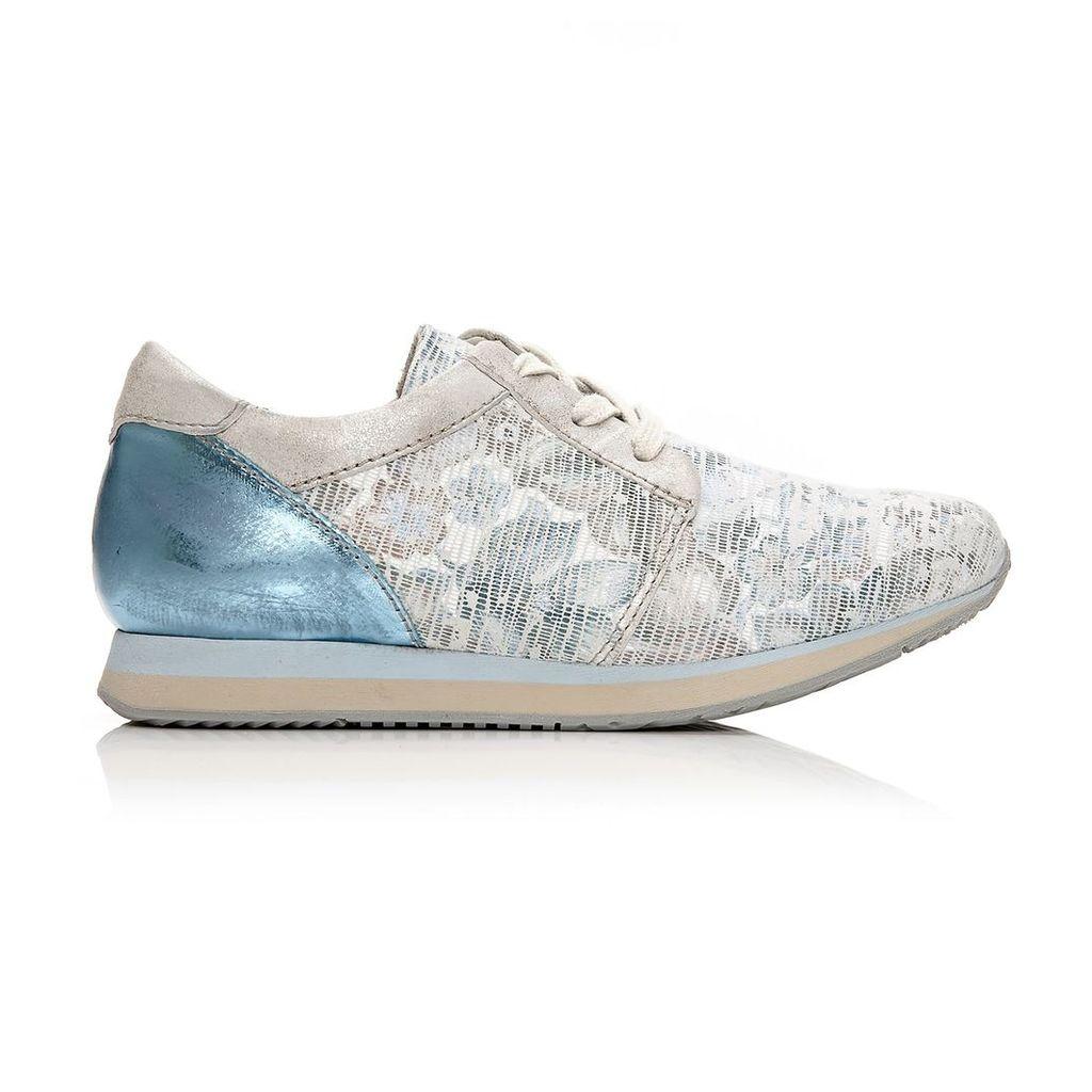 Moda in Pelle Bori Blue-White Low Leisure Shoes
