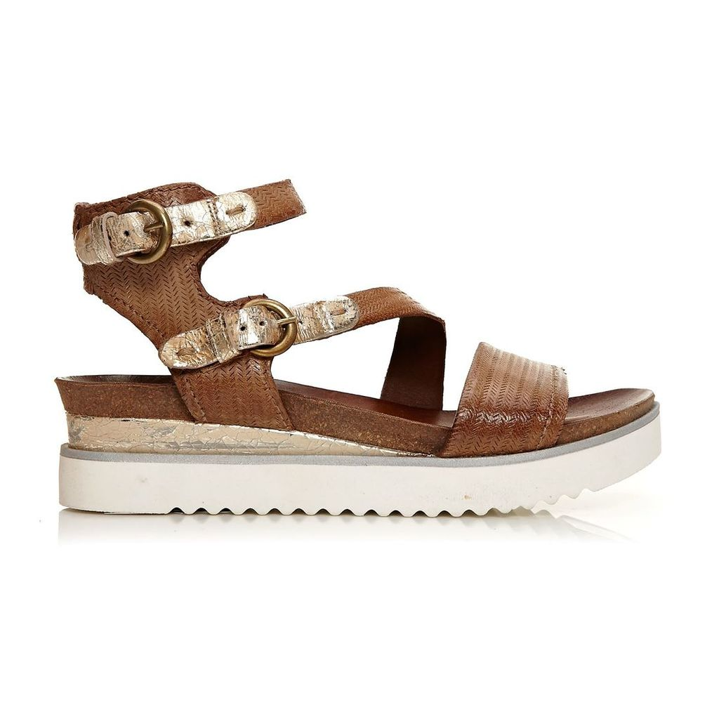 Moda in Pelle Peri Tan Medium Casual Sandals