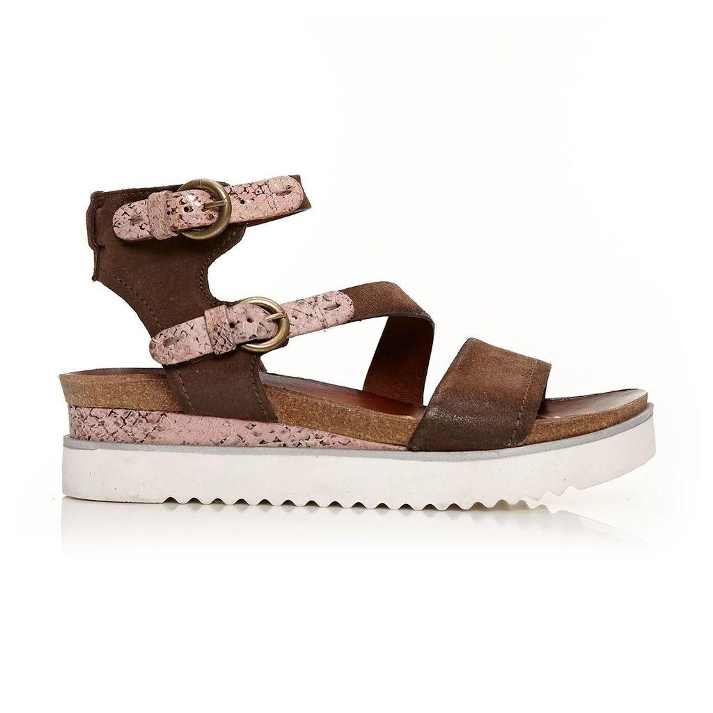 Moda in Pelle Peri Dark Brown Medium Casual Sandals