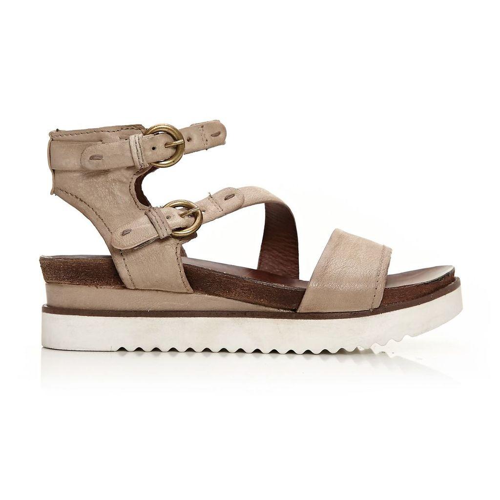 Moda in Pelle Perti Beige Medium Casual Sandals