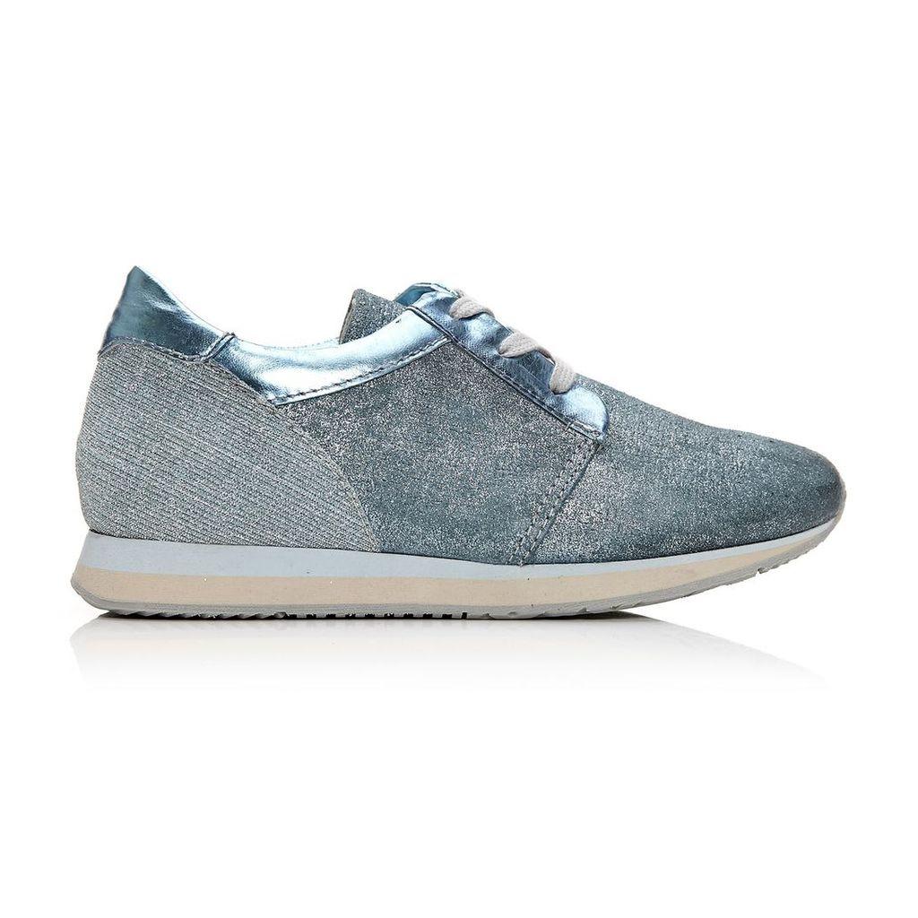 Moda in Pelle Bori Blue Low Leisure Shoes
