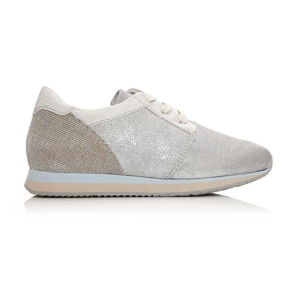 Moda in Pelle Bori White Low Leisure Shoes