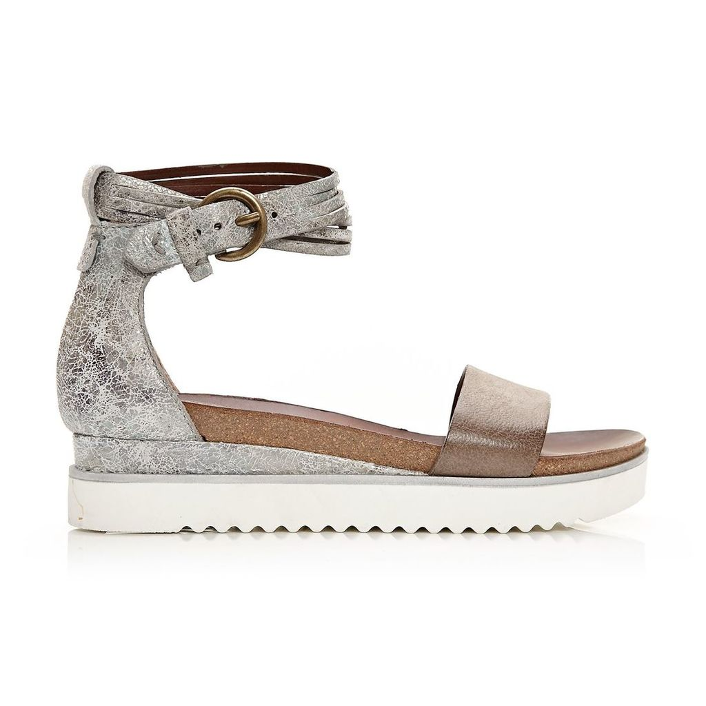 Moda in Pelle Pomi Taupe Low Casual Sandals