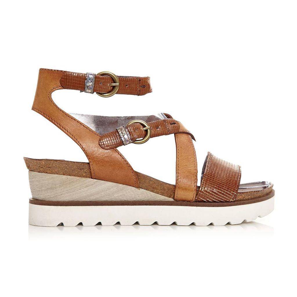 Moda in Pelle Priti Tan Medium Casual Sandals