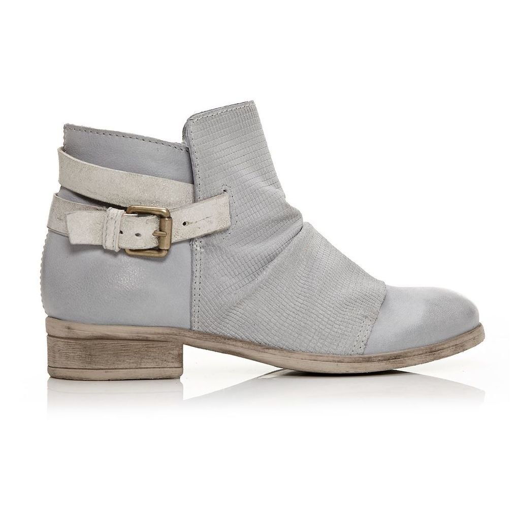 Moda in Pelle Coni Light Blue Low Casual Short Boots