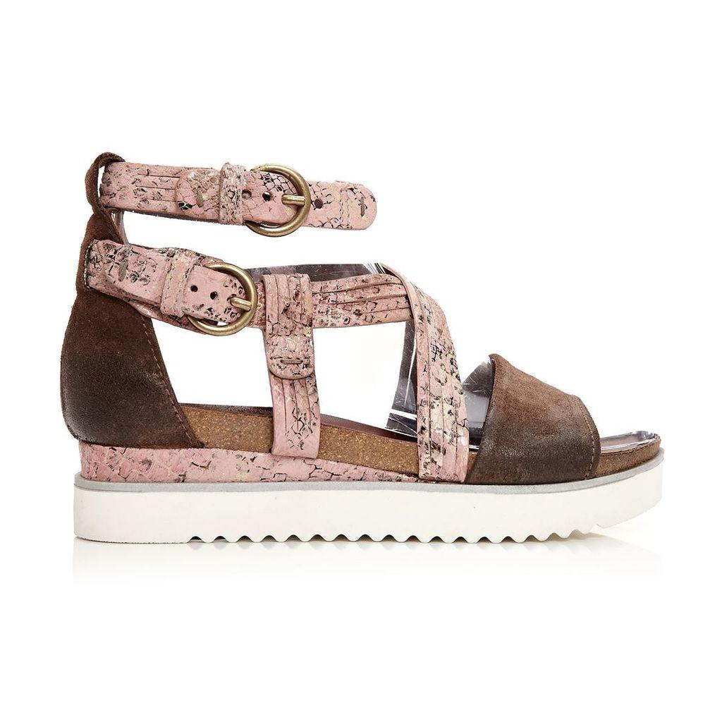 Moda in Pelle Perli Brown Medium Casual Sandals