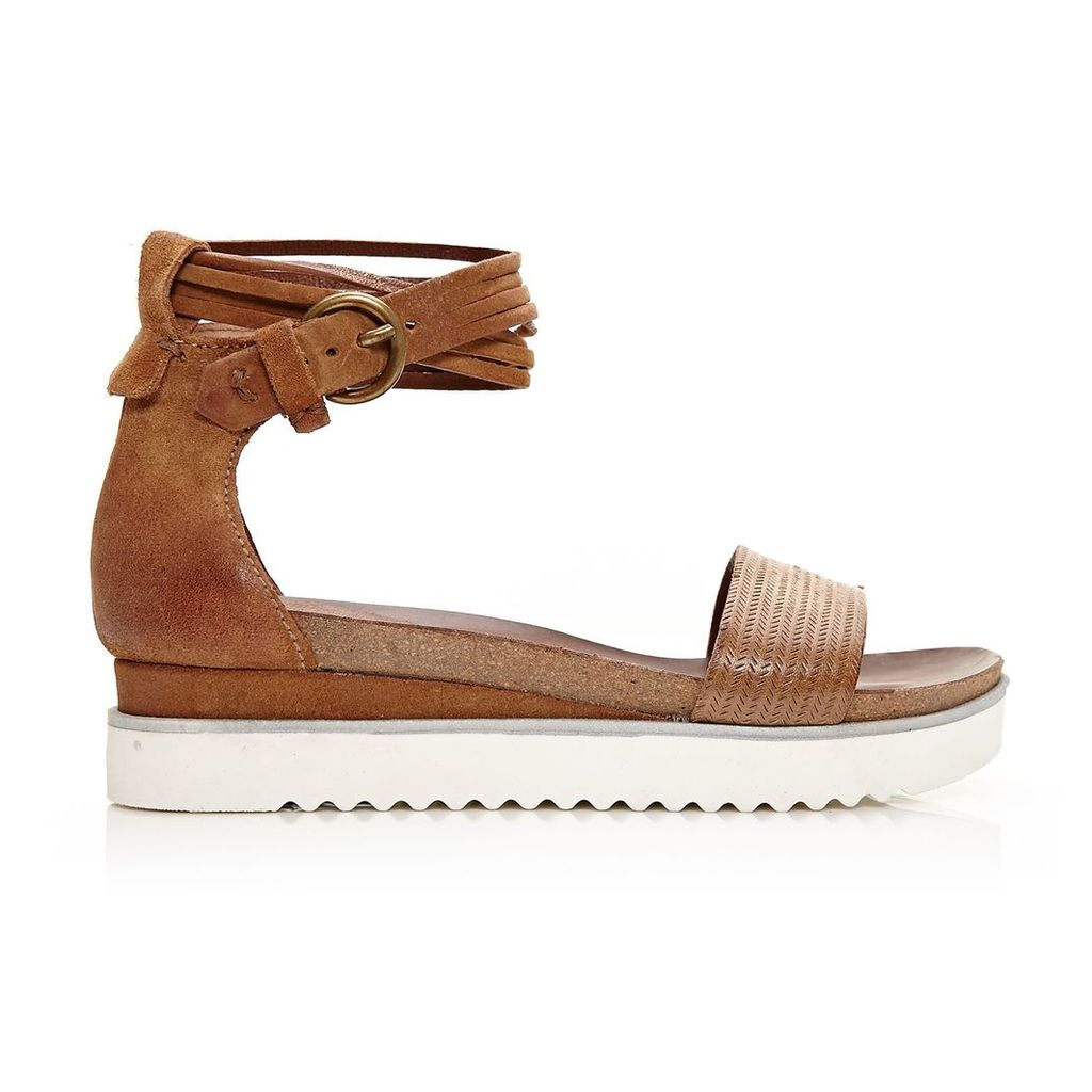 Moda in Pelle Pomi Tan Low Casual Sandals