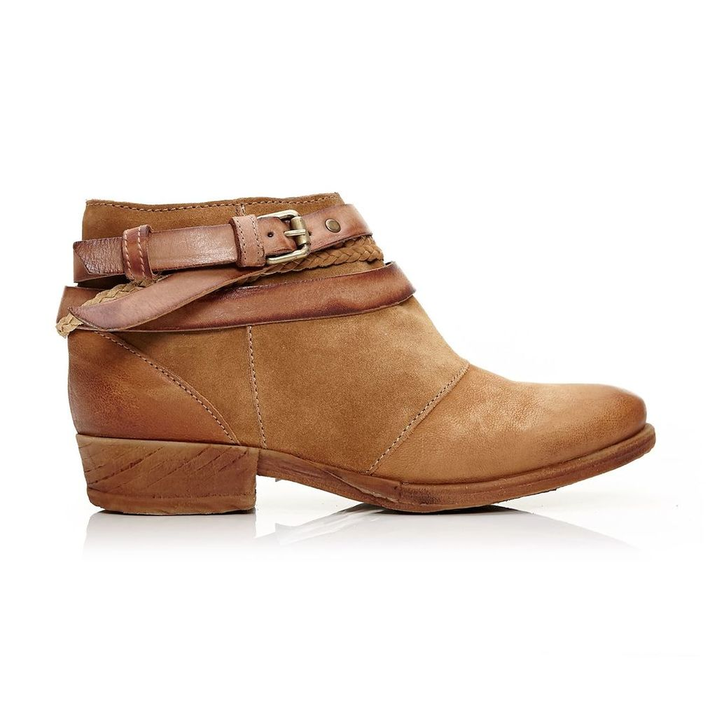 Moda in Pelle Crysi Tan Low Casual Short Boots