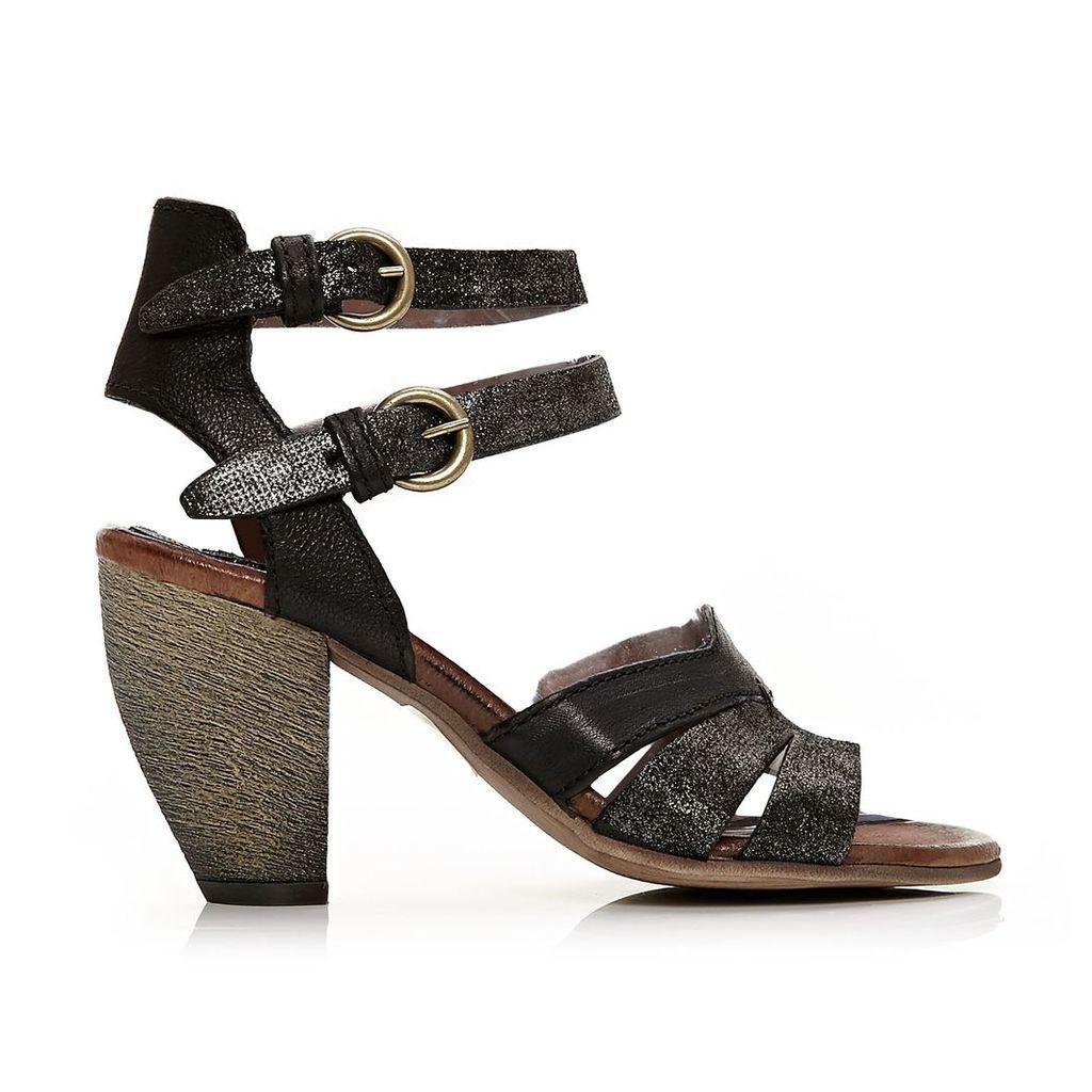 Moda in Pelle Lorell Black Medium Casual Sandals