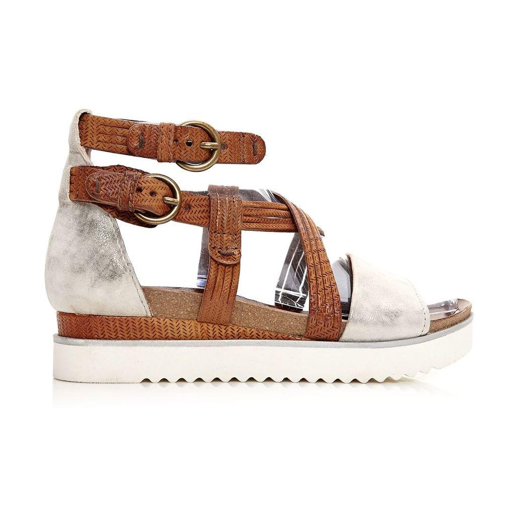 Moda in Pelle Perli Tan Medium Casual Sandals