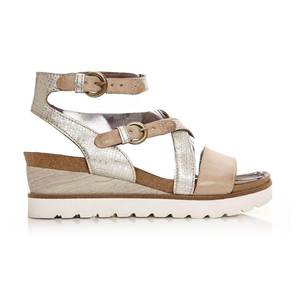 Moda in Pelle Priti Taupe Medium Casual Sandals