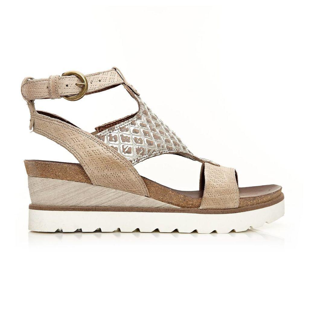 Moda in Pelle Polti Beige Medium Casual Sandals