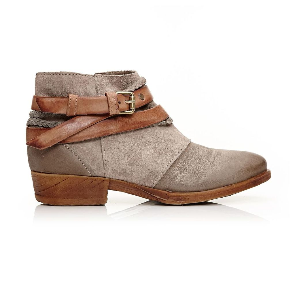 Moda in Pelle Crysi Grey Low Casual Short Boots